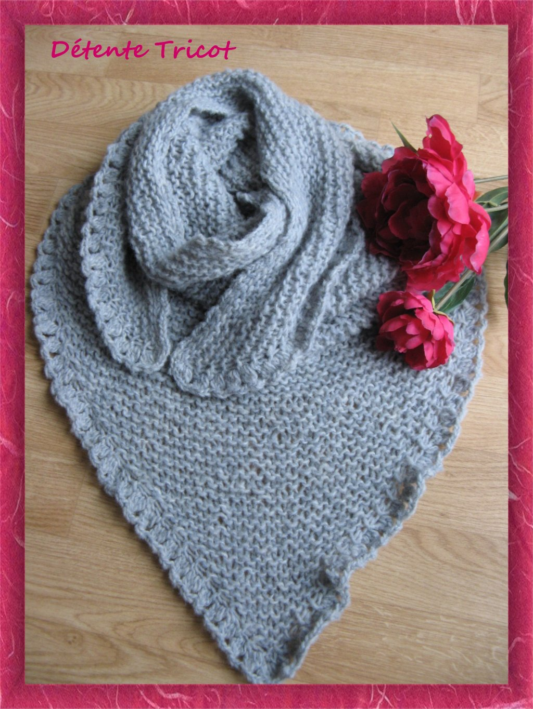 Enfin ...Mon Trendy Châle ! dans Tricot-Crochet Trendy-Gris.3