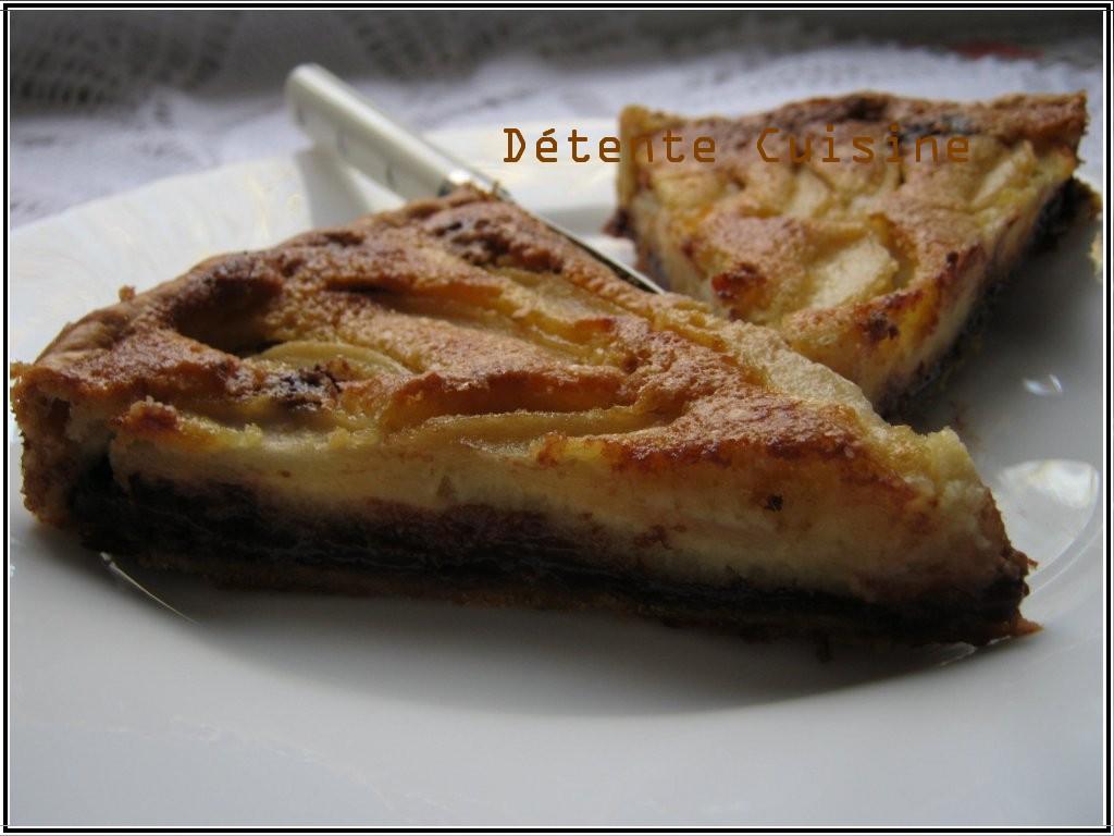 Tarte-choco-poires2 dans Détente