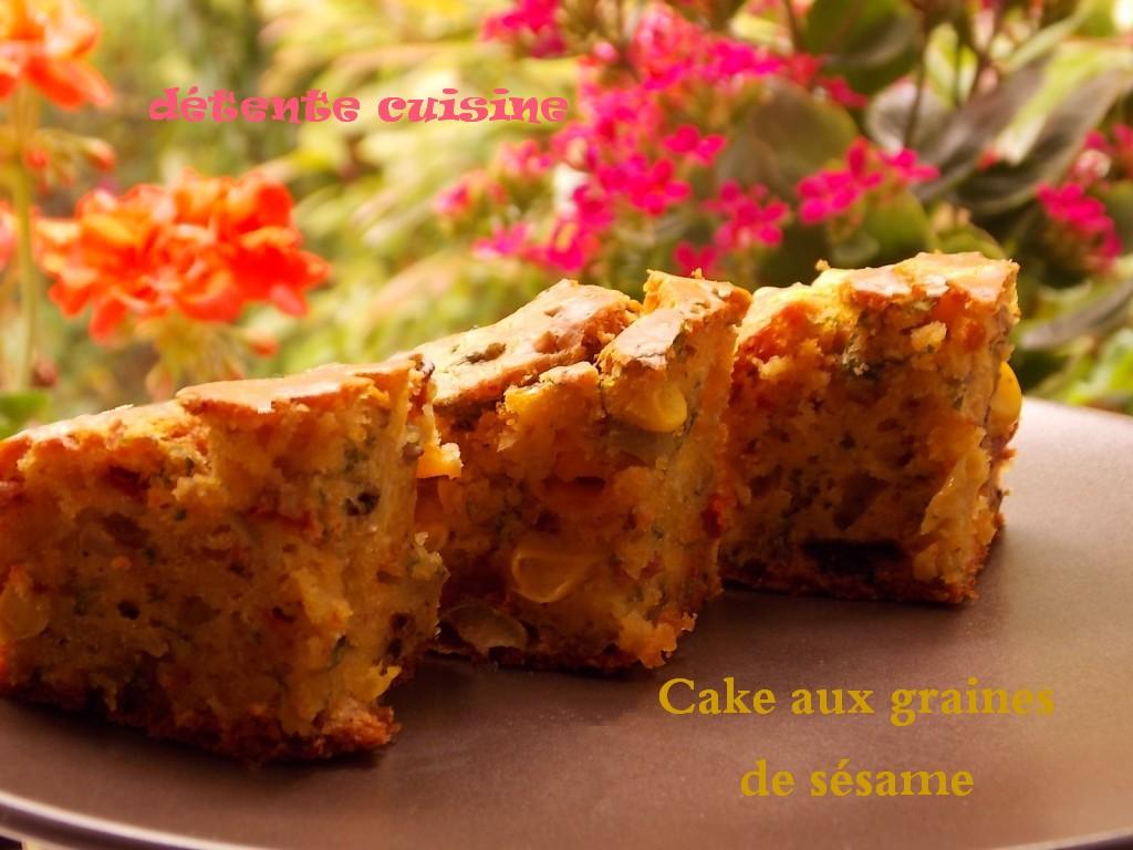 cake-sesame04 cake salé dans Nature, fleurs, botanique