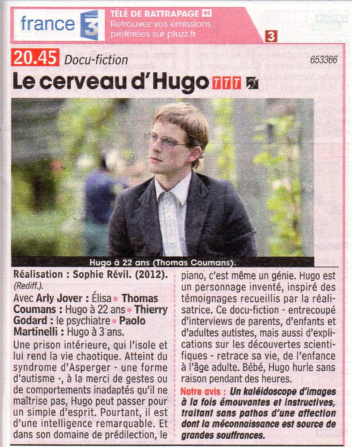 Le Cerveau d'Hugo( Rediffusion)